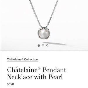 David Yurman Châtelaine® Pendant Necklace w/ Pearl